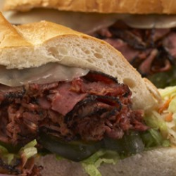 Hot Roast Beef Grinder Sandwich